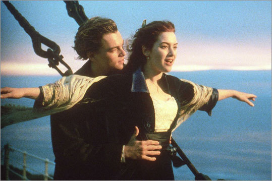 The 1997 film 'Titanic' brought DiCaprio worldwide acclaim. The movie, directed by James Cameron, won 11 Academy Awards, including best picture and best director, and remains one of the top-grossing movies of all time — only Cameron's 'Avatar' out-grossed it in 2009. The film brought together DiCaprio and British actress Katie Winslet for the first time.