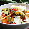 Conchiglioni with Zucchini and Cherry Tomatoes