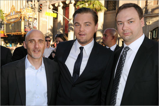 Jeff Robinov, Leonardo DiCaprio and Thomas Tull
