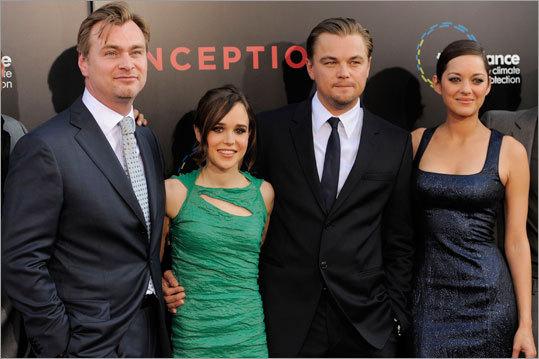 Christopher Nolan, Ellen Page, Leonardo DiCaprio and Marion Cotillard
