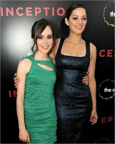 Ellen Page and Marion Cotillard