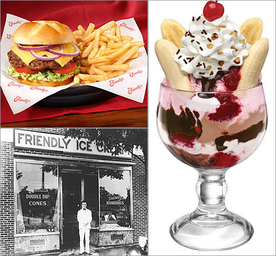 Friendly Ice Cream Corp., the 76- year-old Wilbraham-based restaurant chain known for its ice cream and burgers, named John M. Maguire its new chief executive. He is currently the chief operating officer for Panera Bread Co. Here is a look back at some iconic products and business milestones in the chain's history.