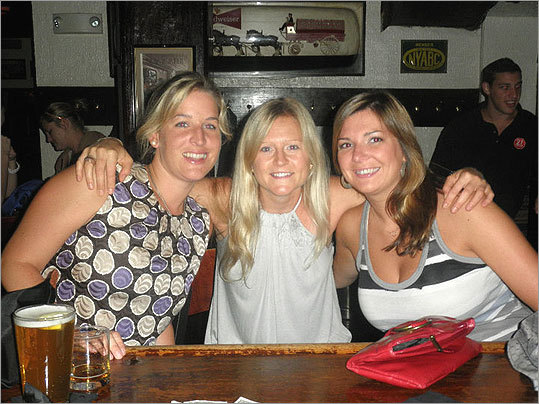 Party on, Boston North End friends Laurie Murphy, Sarah Lowell, and Kerry Needham posed for a photo at the 21st Amendment.
