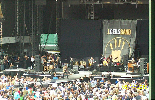 Michal Gill, of Feeding Hills, took this photo of the stage as J Geils performed.