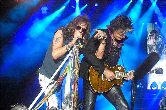 We asked for your photos from the Aerosmith and J. Geils Band concert at Fenway Park, and you delivered. West Roxbury resident Howard Buccieri snapped this photo of Joe Perry and Steven Tyler.