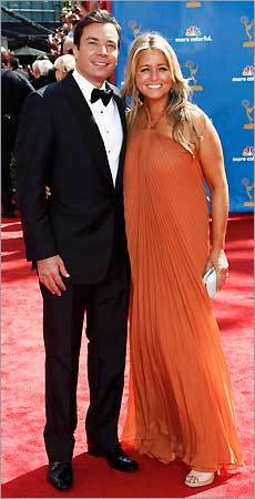 Jimmy Fallon and his wife, Nancy Juvonen