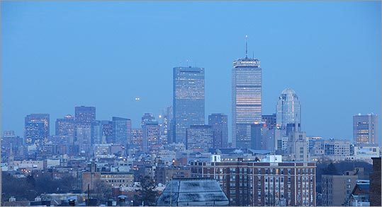 Andrew Ott of Brookline shot this photo of the city from Corey Hill in Brookline.