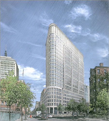 Liberty Mutual Insurance Co. is building a 22-story tower (pictured) at the corner of Columbus Avenue and Berkeley Street, replacing the former Salvation Army headquarters and the adjacent Benjamin Franklin Smith building. The $300 million expansion sits at the intersection of the Back Bay, South End, and Bay Village neighborhoods. Click through to see photos and renderings - overlayed over each other - of how the neighborhood will look once the project is complete.