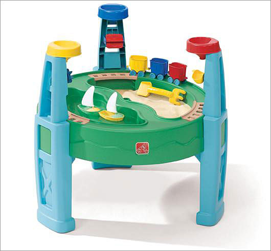 Step2 recalls transportation station toys due to choking hazard Recalled: Sept. 7, 2010 Step2 Company is recalling about 64,000 Sand & Water Transportation Station toys because light blue plastic wheels on the train cars in the toy set can detach, creating a potential a choking hazard to young children. The toy sets were sold at Target and other major retailers from December 2008 through June 2010 for between $49 and $59. Consumers are advised to take the train cars away from children and contact Step2 for free replacement cars. More info on this recall
