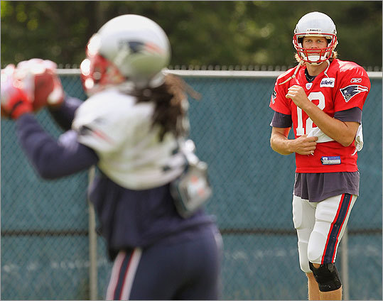 Brady at the Patriots' afternoon practice.