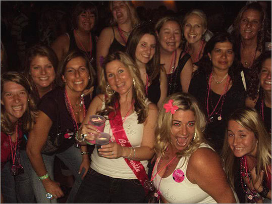 Party on, Boston Leigh Bowen of Ipswich shared this photo of a double bachelorette party aboard an August Jam'n 94.5 music cruise.
