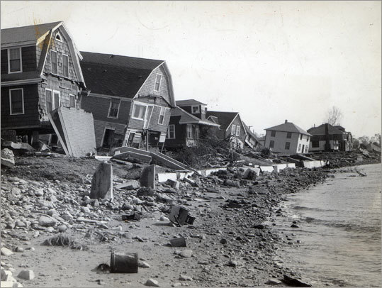 The New England coast was devastated by the storm.
