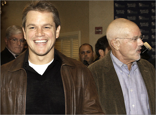 Actor Matt Damon and his dad Kent.