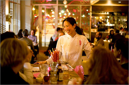 Joanne Chang at her restaurant, Myers + Chang