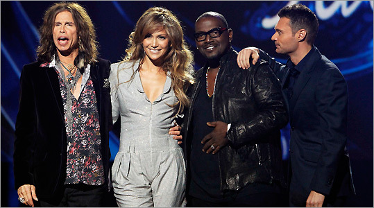 Steven Tyler, Jennifer Lopez, and Randy Jackson