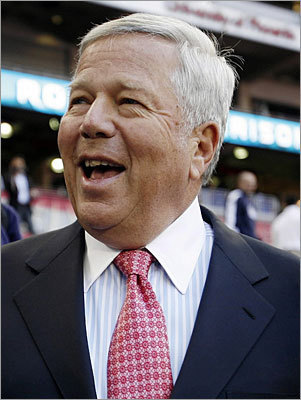 Robert Kraft Net worth: $2.3 billion Overall rank: 641 Age: 71 Residence: Brookline Kraft, who is chairman and chief executive of The Kraft Group, made his initial fortune in the paper and packaging industries. He has since gained even more notoriety (and wealth) as owner of the New England Patriots.