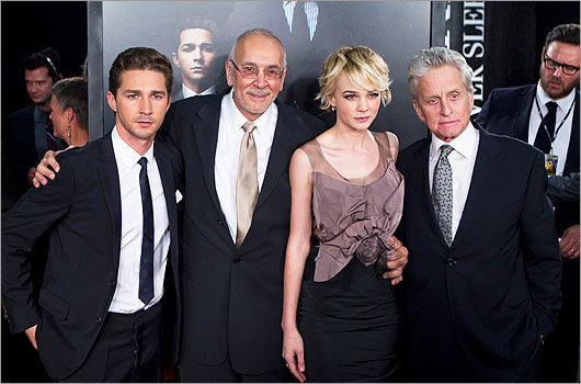 Shia LaBeouf, Frank Langella, Carey Mulligan and Michael Douglas