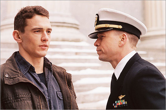 Wahlberg worked alongside James Franco (pictured) and Tyrese Gibson in the 2006 flick 'Annapolis,' about a young man who dreams of entering the United States Naval Academy.