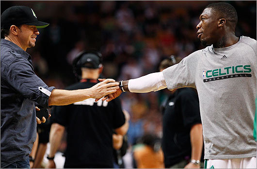 When the Boston Celtics played the Orlando Magic in Game Four of the 2010 Eastern Conference Finals in Boston, Wahlberg was sure to be in attendance. He shook hands with Nate Robinson during half time.