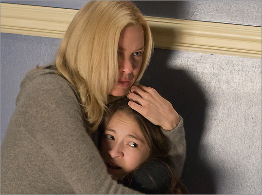 """As Halloween approaches, scary movies are opening in theaters with youths as their primary source of fright. In the just-released ' Case 39 ' (pictured), Renee Zellweger's character attempts to rescue an abused girl. Is the girl not who she appears to be? """"I have bad thoughts,'' she reveals. And in the latest vampire flick ' Let Me In, ' a 12-year-old boy befriends a new, bloodsucking neighbor. We asked readers to vote for their favorite movie featuring some frightening children. Here are their top 10 picks. Proceed with caution."""