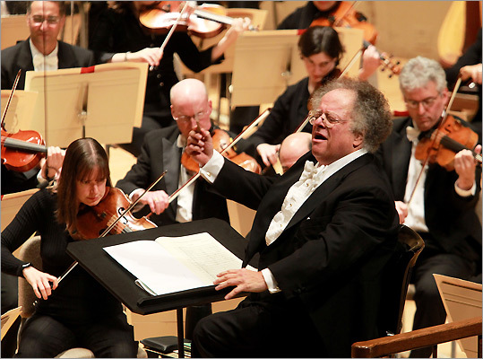 James Levine with the BSO