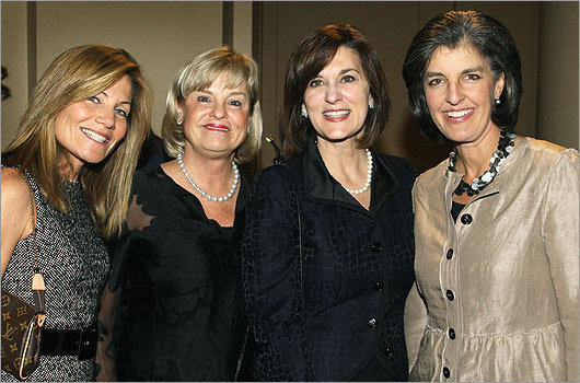 Oct. 15 in Boston From left: Karen Kaplan of Marblehead, Eileen Connors of Brookline, Vicki Kennedy, widow of the late Senator Edward M. Kennedy, and Heather Campion of Brookline.