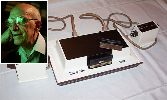 4. Ralph Baer Back in 1966, in Nashua, N.H., Baer was working for a defense contractor and developed something he called the 'Brown Box.' The technology was licensed to Magnavox and, in 1972, a new product was unleashed on the public: the Magnavox Odyssey, the first home video game console game that could be played on your average black and white television set. He also invented the first light gun for shooting games. What about Pong, you ask? Baer's tennis game predated Atari's by three years. All these firsts earn Baer the title 'The Father of Video Games' – plus Corruptor of Teenage Minds and Waster of Quarters and Time.