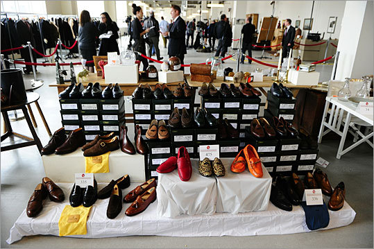On Nov. 13, 2010, more than 400 items were put up for auction in New York City, including a collection of more than 250 pairs of shoes (pictured), some of which were never worn.