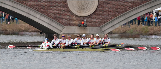 Tyler Winklevoss, US Olympic rower and Harvard grad (third from left) rowed with the Deutscher Ruder Verband boat.