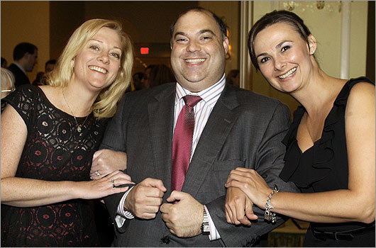 Oct. 22 in Boston More than 250 guests attended the RESPONDing to Domestic Violence Gala at the Boston Harbor Hotel. Pictured from left: Board member Elizabeth Tyminski of Boston, Chairman of the Board Jeff Kellem of Newton, and Executive Director Jessica Brayden of Danvers.
