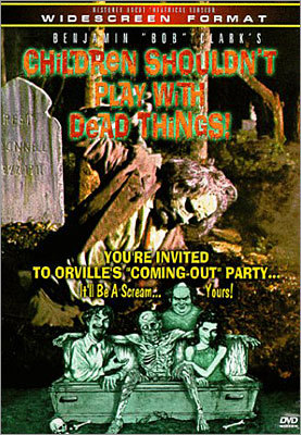25. Children Shouldn't Play with Dead Things (1972) Did you know that before directing the timeless holiday film 'The Christmas Story,' Bob Clark was making zombie films? This low-budget movie follows an acting troupe who decide to spend a weekend on an island acting out satanic rituals - all in good fun, of course. But when they get a little too cozy a member of the local graveyard's population, they pay the price. If we were ranking zombie movie titles, this would be near the top. While the film requires a lot of patience and a high tolerance for overacting, zombie fans are be rewarded at the end.