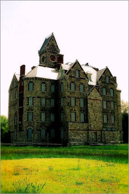 Exterior of Worcester State Hospital