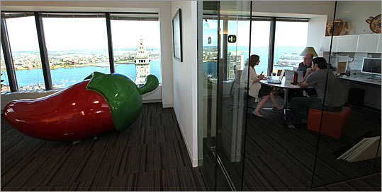 Top medium-sized workplaces 2010 <a href='http://www.boston.com/business/special/topplaces/2010/profiles/hill_holliday.html '>No. 1: Hill Holliday Advertising and marketing Based in: Boston 2011 rank: 16 2009 rank: 14 Full story: Truth in advertising | Video Left: Stacey Shepatin, Dave Gardiner, and Jeff Baxter hold a digital media strategy session.