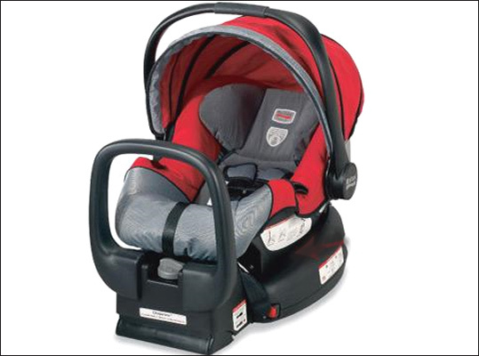 Britax recalls 23,000 car seats Recalled: Nov. 4, 2010 Britax recalled about 23,000 child safety seats because of a faulty chest clip, which was not as secure as the company thought. Britax reported it received four reports of the chest clip breaking. In three of the cases, the infants in the seats suffered minor lacerations and scratches to arms and a finger. One report involved an infant placing the clip in his mouth. Consumers should contact the company for a free replacement clip. For more information, call Britax at 1-888-427-4829.