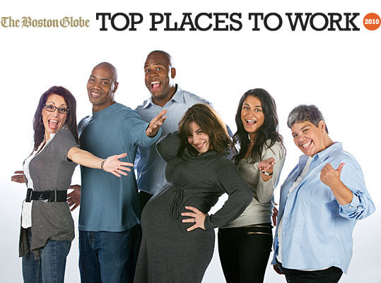 Aside from the occasional free cup of coffee, what makes a great workplace? Happy workers are a product of intuitive managers, a clear direction, superb execution, ample opportunity for advancement, and, of course, good pay, benefits, and working conditions. Here are the top five small, medium, and large places to work in Massachusetts.