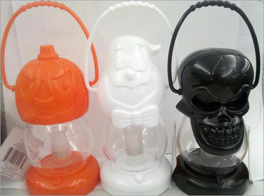 Dollar Tree Recalls children's Halloween lanterns Recalled: Oct. 28, 2010 The Dollar Tree recalled about 682,000 battery-operated Halloween lanterns because the lightbulbs inside can overheat and pose a fire hazzard. The black, white, and orange lanterns, shaped like skulls, ghosts, and pumpkins, were sold at Dollar Tree and affiliated stores for about $1 starting in August. The company said it got one report of the lamp overheating, and none of injuries. Consumers should keep the lanterns away from children, remove and discard the batteries, and return the lanterns to the store for a full refund. For more information, call Dollar Tree Stores Inc. at 1-800-876-8077.