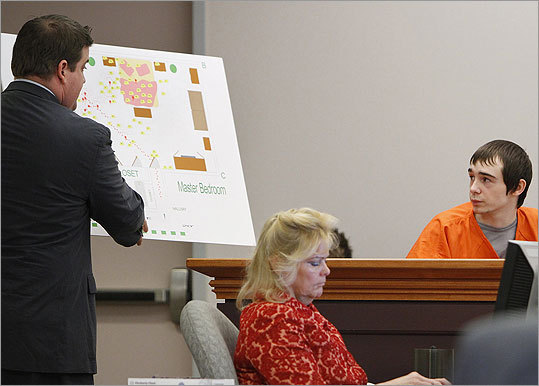 Jonathan Cohen showed a diagram of the Cates family's master bedroom to William Marks during Marks' testimony.