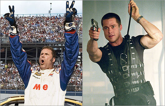 Ricky Bobby of 'Talladega Nights' and Mr. John Smith of 'Mr. & Mrs. Smith'