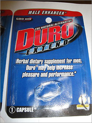 Male enhancement pills recalled due to unapproved drug Recalled: Nov. 5, 2010 Intelli Health Products is recalling its Duro Extend Capsules for Men because they contain an unapproved new drug that may interact with nitrates found in some prescription drugs, such as nitroglycerin, and may lower blood pressure to dangerous levels, according to the FDA. Consumers are advised to stop using them immediately and return them to where they were purchased. – Associated Press