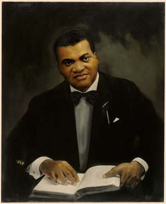 The late Archie Epps served Harvard for 40 years, 25 of them as dean of students. Hit portrait is hung in University Hall.