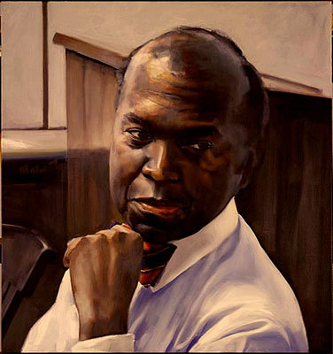 David Evans, senior admissions officer, has served Harvard for 40 years and oversaw the admission of the largest number of minority students in Harvard's history. His portrait is hung in Lamont Library.