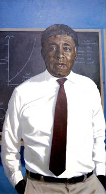 The late Dr. Harold Amos, who taught at the Harvard Medical School and in the Faculty of Arts and Sciences, was the first African American to serve as a chairman of a Harvard medical school department. His portrait is hung in the medical school's Warren Alpert building.