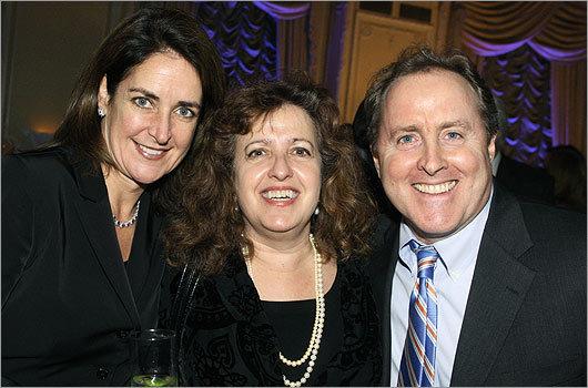 Nov. 10 in Boston From left: Nancy Haas of Gloucester, Debbie Black of Cambridge, and Shreve, Crump & Low CEO David Walker of Wellesley.