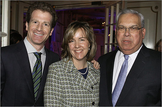 Nov. 10 in Boston From left: event chairman Adam Weiner of Boston, President and Executive Director Meg Mainzer-Cohen, and Mayor Thomas Menino.