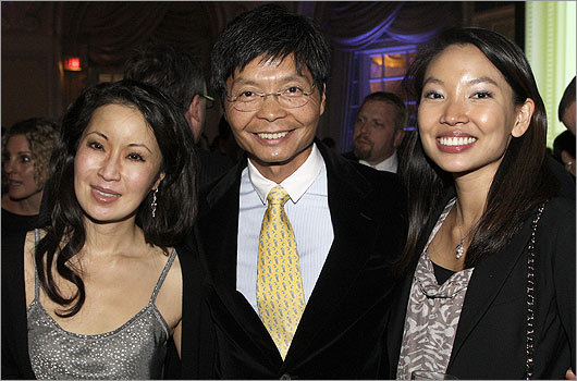 Nov. 10 in Boston From left: Tabitha Deming, Bernard Chiu, and his daughter Bettina Chiu, all of Boston.