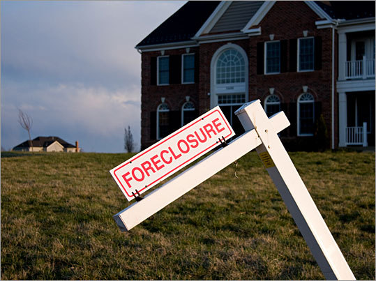 For the first time, more home foreclosures are taking place in the state's suburban and rural communities than in long-troubled cities, according to a new study by the Massachusetts Housing Partnership . Here is a list of the 10 rural and suburban towns with the highest distressed property rate -- meaning that housing units are either in the process of being foreclosed on or are already bank-owned. Note: The following communities are those on the list that are not a part of Boston or deemed one of 24 gateway communities , defined as urban areas whose residents have lower-than-average incomes and education levels.
