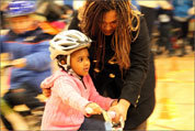See photos from the bike donation
