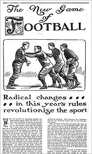 A 1906 article explaining the 'new game of football' as seen in The New York Times.