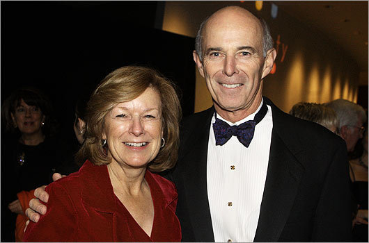 Nov. 19 in Boston From left: Donna May and Thomas May, CEO of NStar.