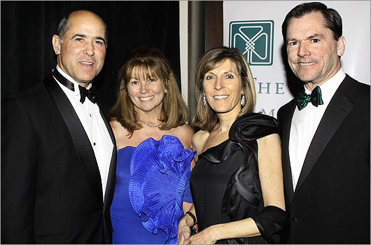 Nov. 19 in Boston From left: Rich and Helene Monaghan of Hingham, Linda Hooley, and Jay Hooley, president and CEO of State Street Corp.